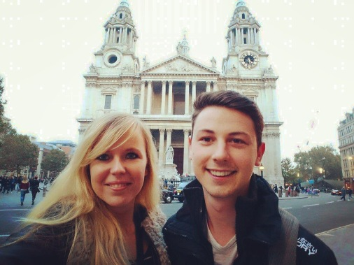Posing outside St. Pauls Cathedral